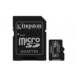 M.SDCS 128GB + ADAP C. 10 KINGSTON 100MB/S