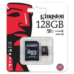 memory card micro sd 128gb classe 10 uhs-i kingston canvas sdcs/128gb