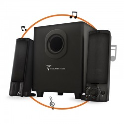 CASSE AUDIO SOUNDBAR TRANSFORMER SPEAKER POWER BLACK 2.1 TECHMADE TM-V2209U