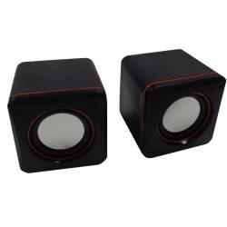 CASSE AUDIO SPEAKER 2.0 ALANTIK SPS2NE 3WATT PER PC NOTEBOOK ALIMENTATE USB NERE