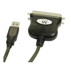 CONVERTITORE DA USB A PARALLELO C X 36 PIN 1,5MT NERO