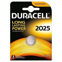 BATTERIA A BOTTONE CR2025 LITIO DURACELL