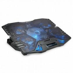VULTECH SUPPORTO PER NOTEBOOK FINO A 15.6 CON 5 VENTOLE, PORTE USB E LCD SN-05