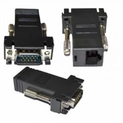 ADATTATORE CONVERTITORE LINQ VGA A LAN VGA-LAN VGA MASCHIO A LAN FEMMINA