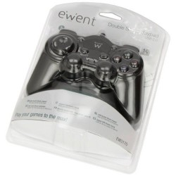 JOYPAD USB EWENT DOUBLE SHOCKPER PC 10 TASTI FUNZIONE