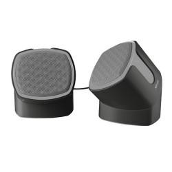 SPEAKER 2.0 TRUST TWIZT ROTATINGCompatto set di altoparlanti stereo ruotabili, con uscita RMS da 5 Watt RMS