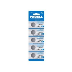 PKCELL LITHIUM BATTERY PILE A BOTTONE CR2025 5PZ